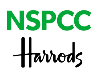 Harrods supporting NSPCC logo