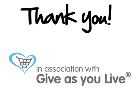 In association with Give as you Live